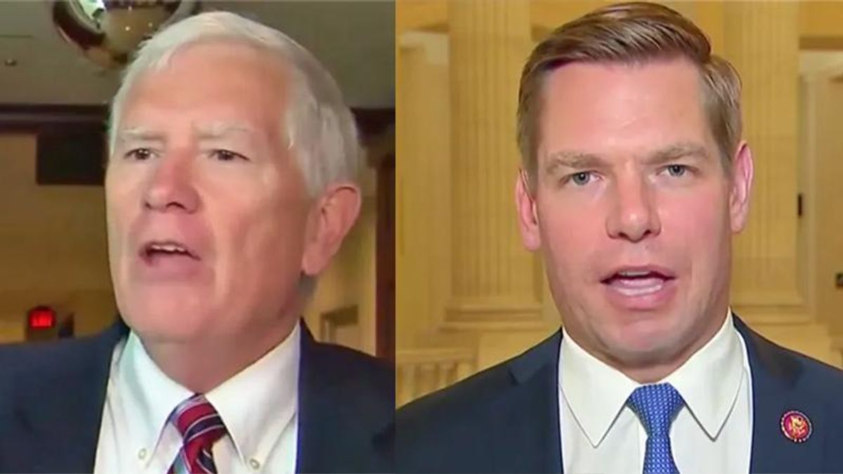 Mo Brooks destroyed for claim Swalwell people 'illegally trespassed': 'Did they riot or kill anyone?'