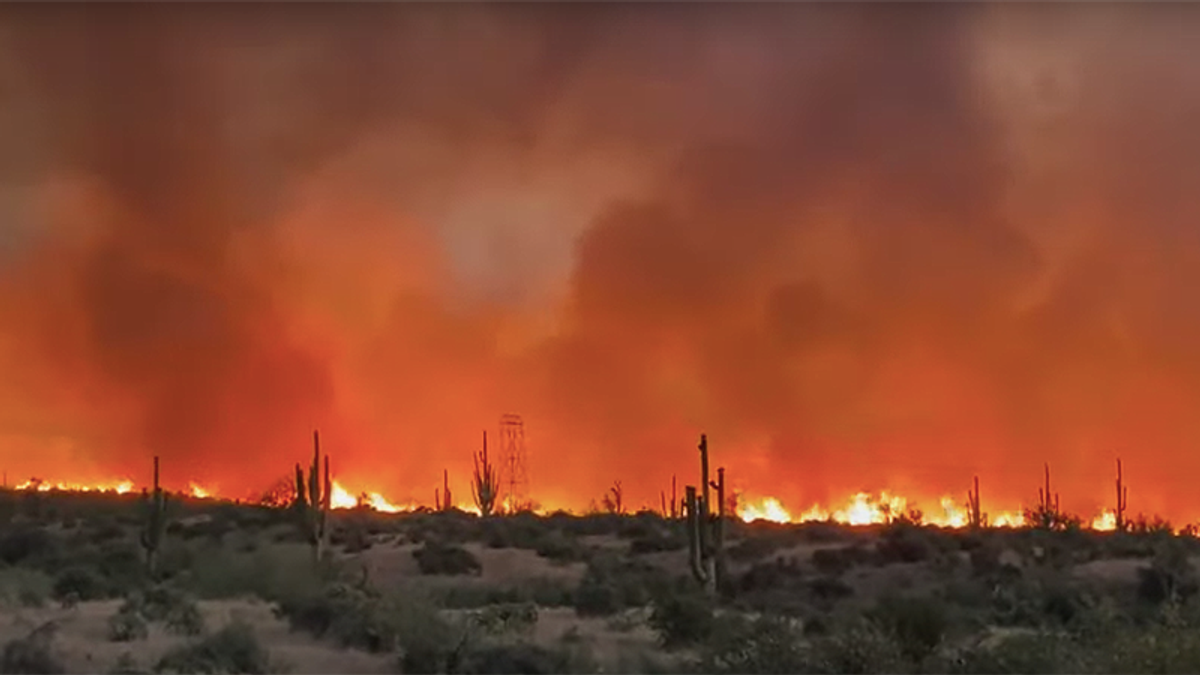Photos and videos reveal the horrifying scene as Arizonans flee from wildfires