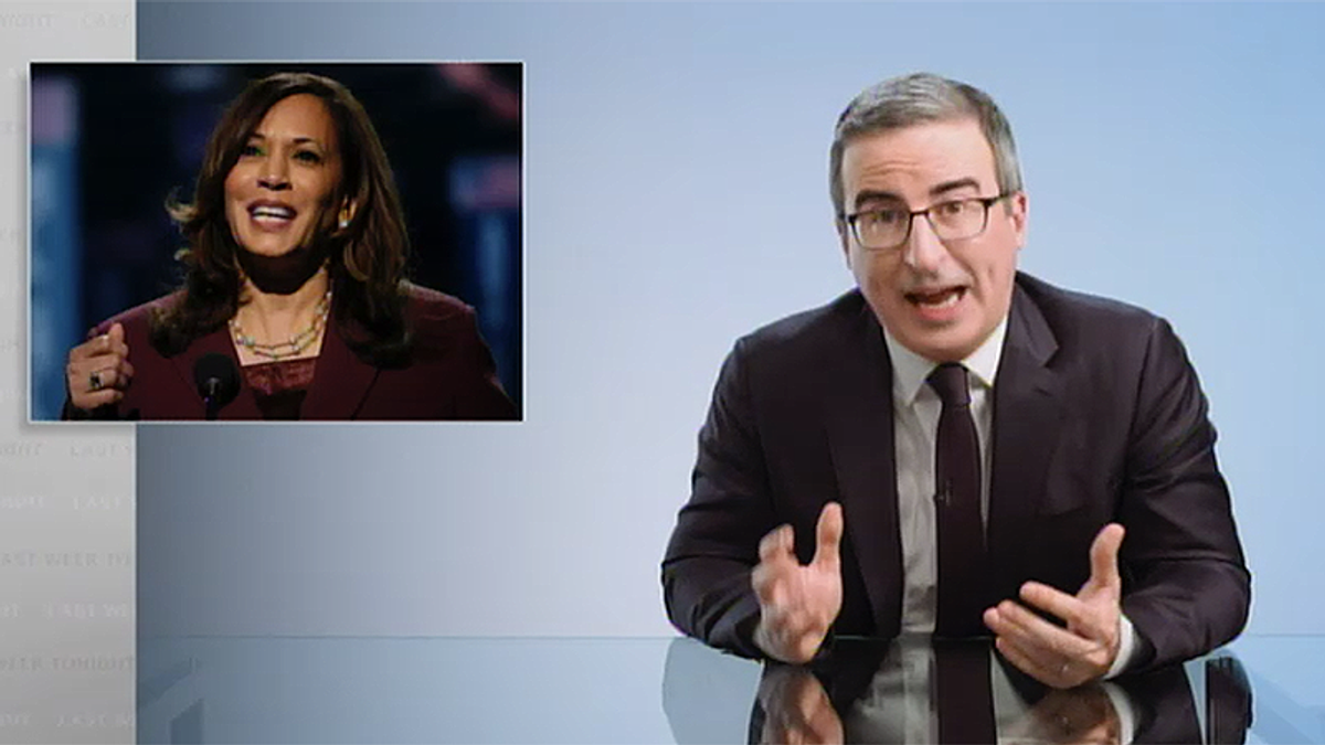 John Oliver shames 'embarrassing' Americans for not citing Kamala Harris when asked for famous Asian American