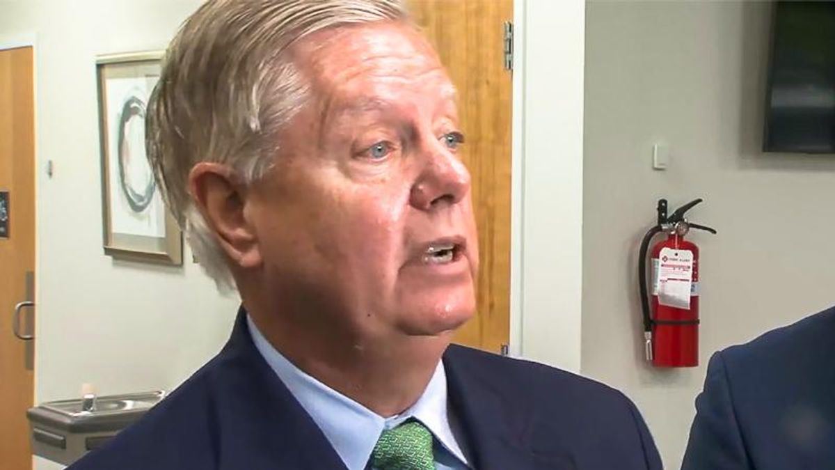 Lindsey Graham turns COVID press conference into screed against Trump's 'deep state' opponents