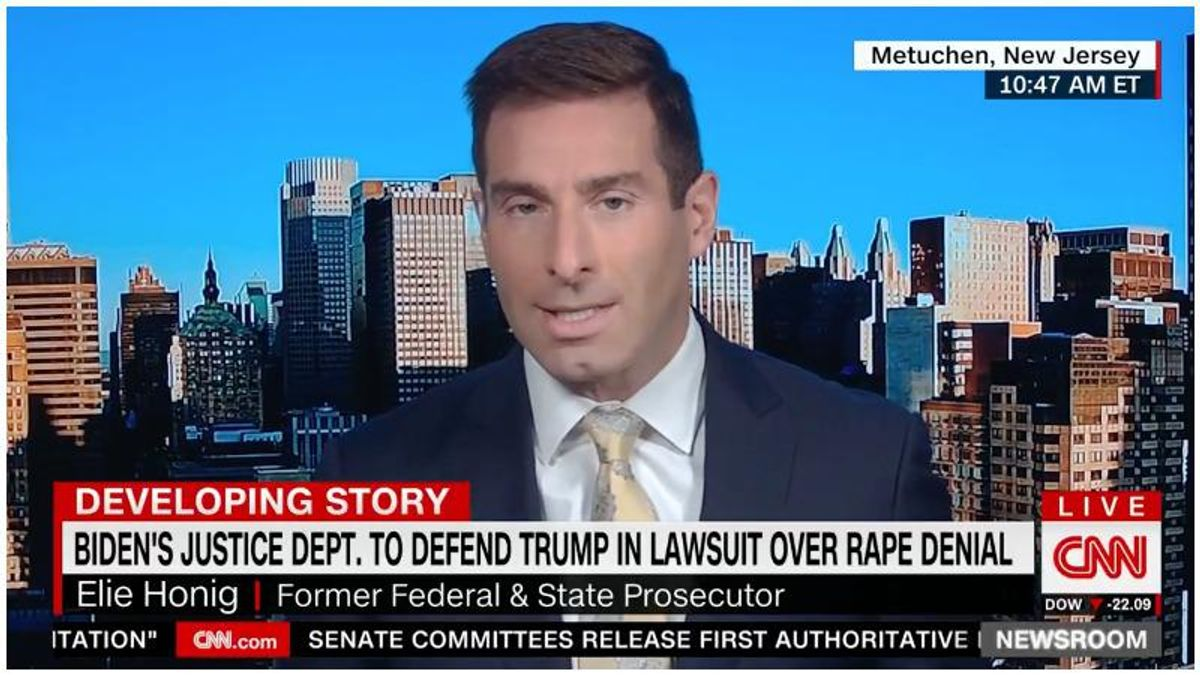 CNN legal expert slams Biden's DOJ for defending Trump in defamation case: 'Timid' Merrick Garland 'is making a mistake here'