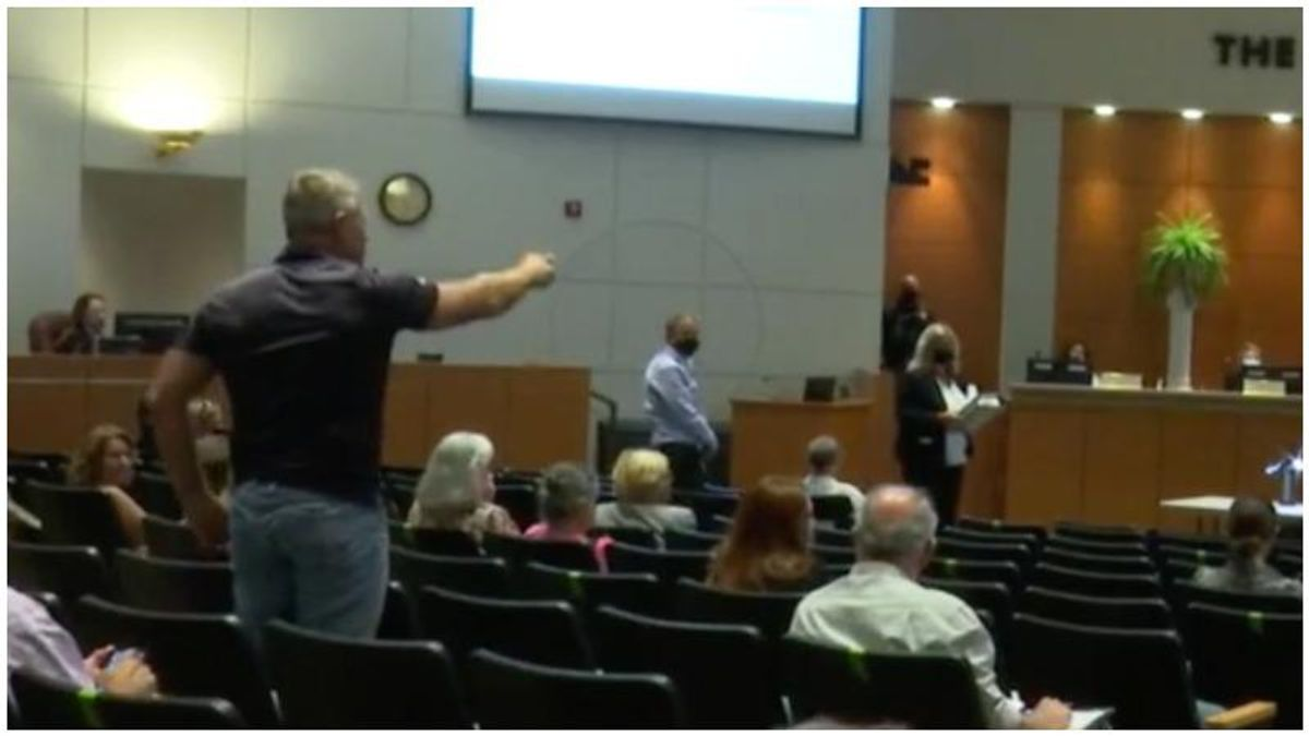 WATCH: Florida school board meeting goes off the rails as furious parents claim textbooks are part of 'a Marxist revolution'