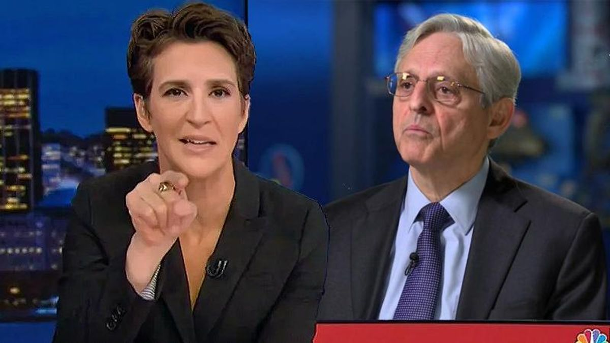 Rachel Maddow lectures Merrick Garland on bad decision to defend Trump: He must clean up Barr's mess