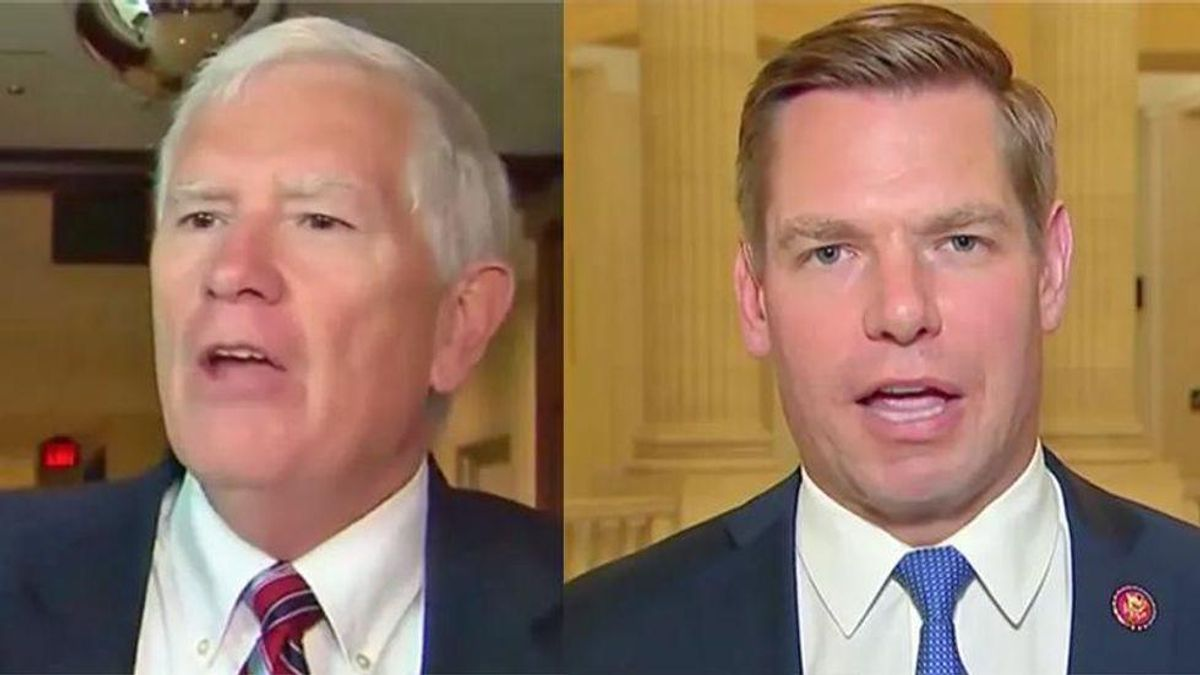 Mo Brooks says Swalwell should 'be a man' and serve him not his wife — after he spent months running from subpoena