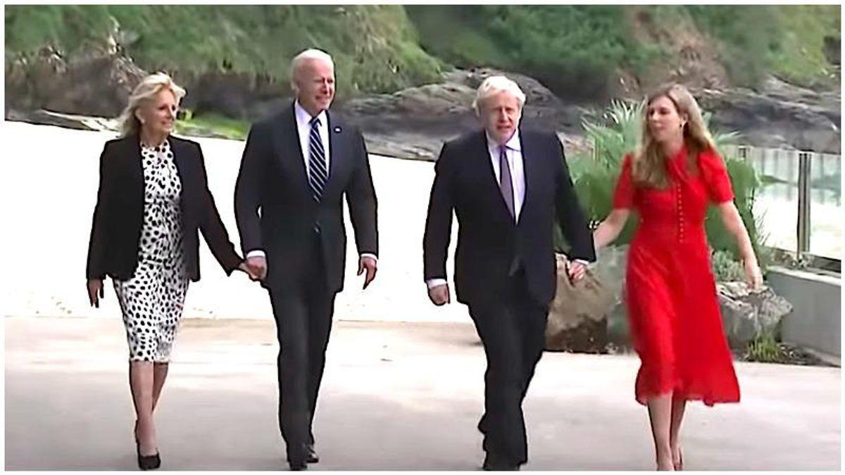 'Slap on the face of the former guy': Trump mocked after Boris Johnson hails Biden as a 'breath of fresh air'