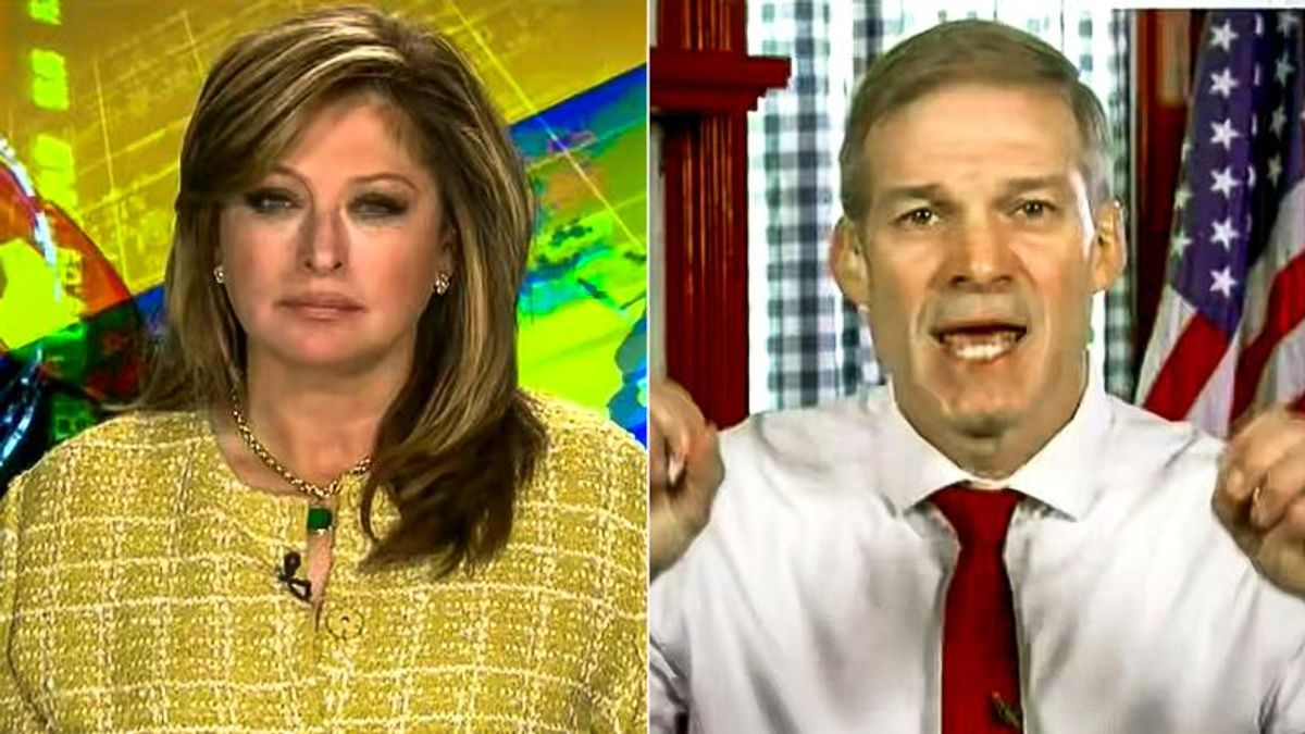 Jim Jordan melts down on Fox News with paranoid rant about 'the left' controlling everything