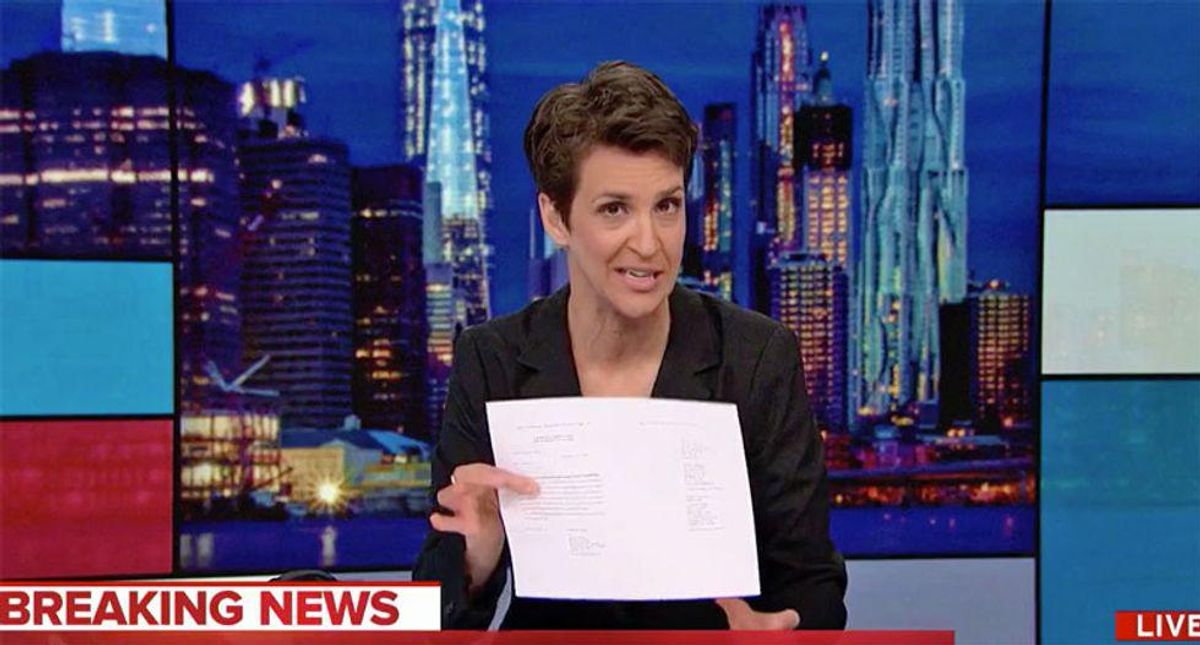 Maddow points to 'groundbreaking' report pleading with Biden 'tyrant proof the presidency' from another Trump