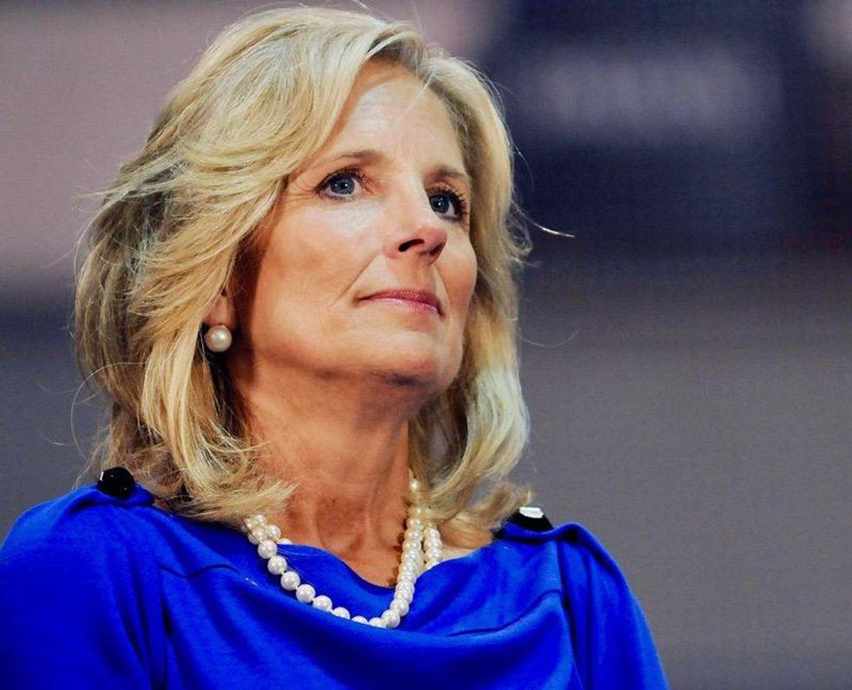 First Lady Jill Biden trumps Melania Trump with back-of-jacket message