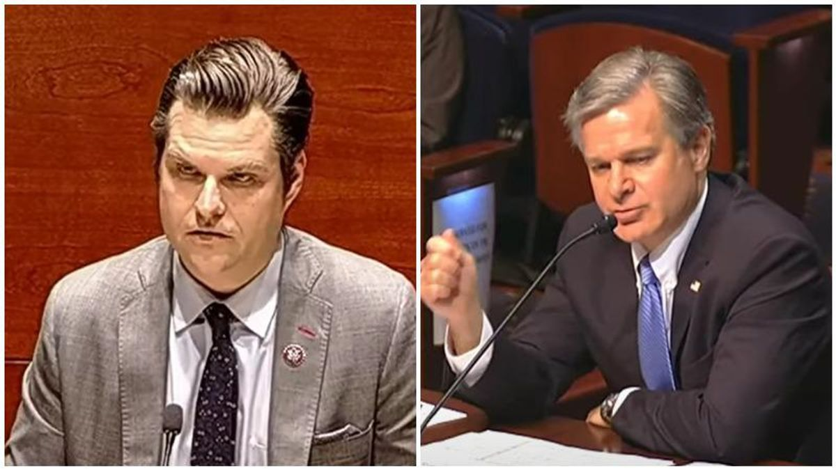 'This is obscene': House GOP faces furious backlash for allowing Matt Gaetz to interrogate the FBI director