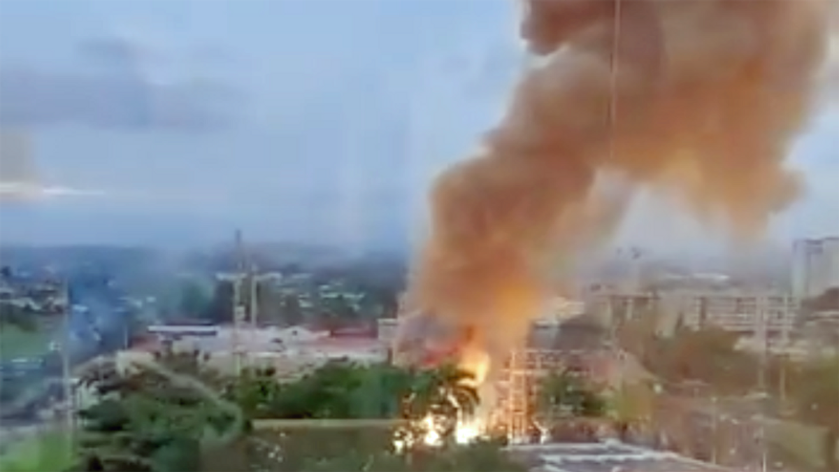 WATCH: Massive explosion and fire knocks out power in Puerto Rico