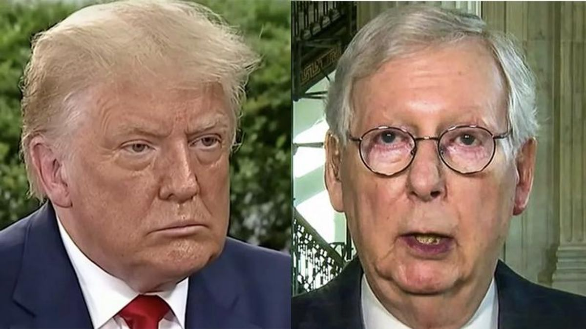 Trump and Mitch McConnell on a 'collision course' over 2022 nominees: report