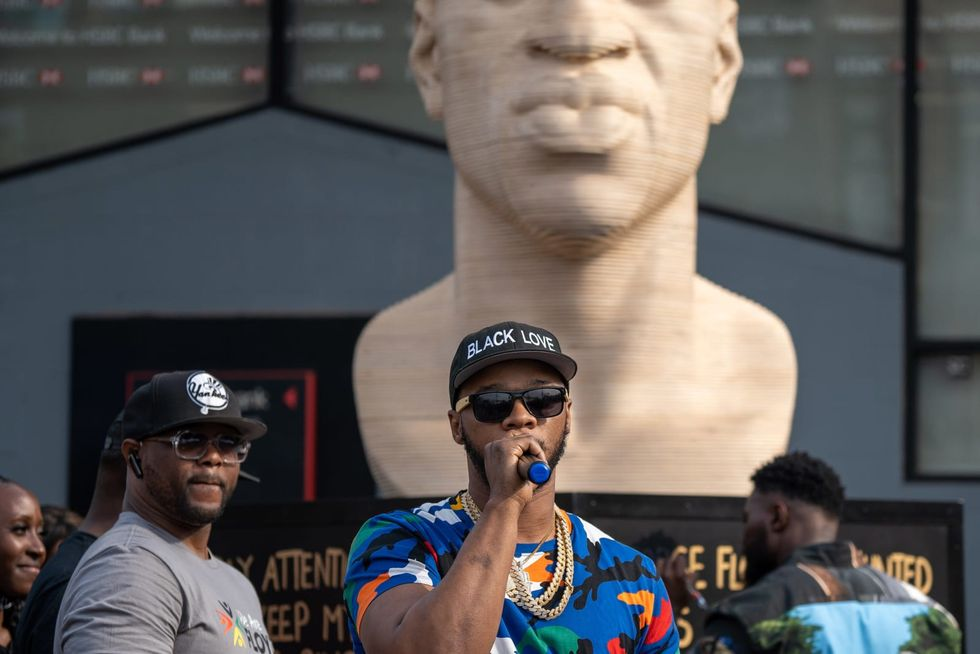 Brooklyn welcomes George Floyd statue as city celebrates Juneteenth with music, marches, parades and protest