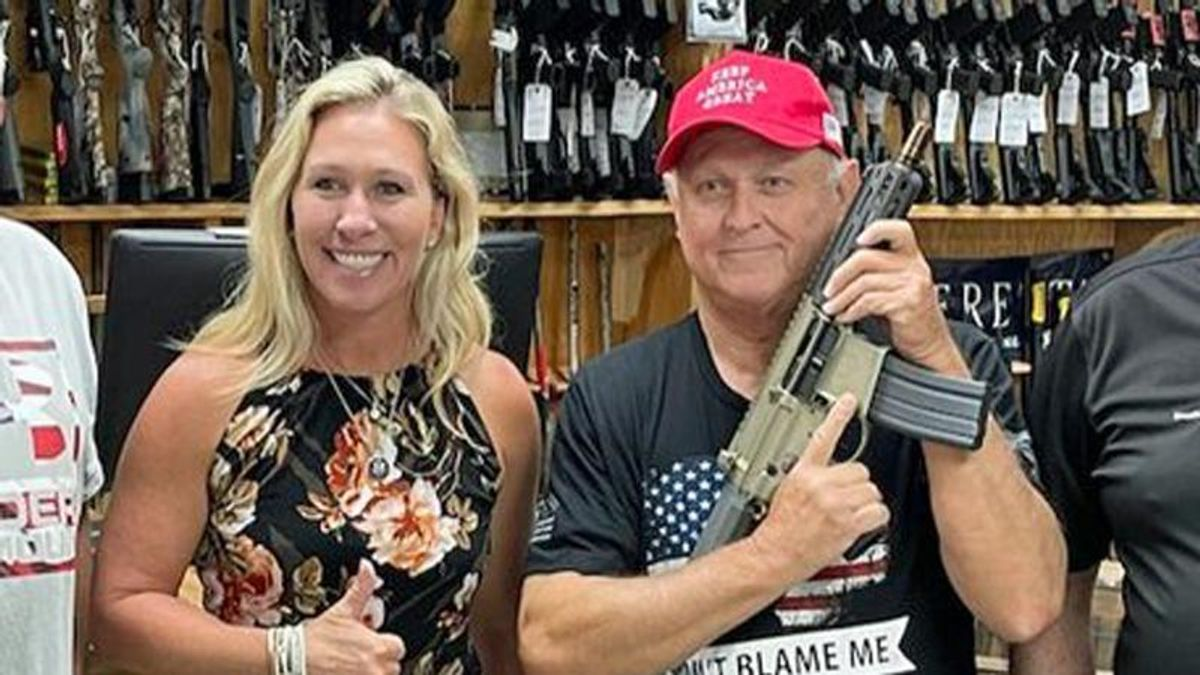 'Weaponized stupidity': QAnon congresswoman slammed after giving supporter an AR-15 pistol