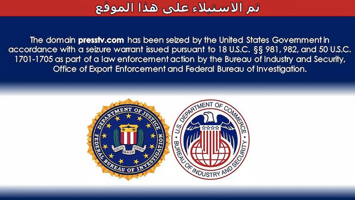 US seizes Iranian state news websites
