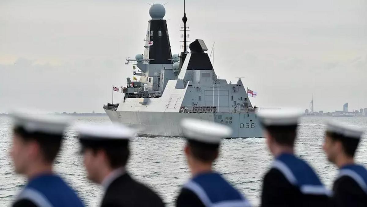 Russia says it fired warning shots at UK ship