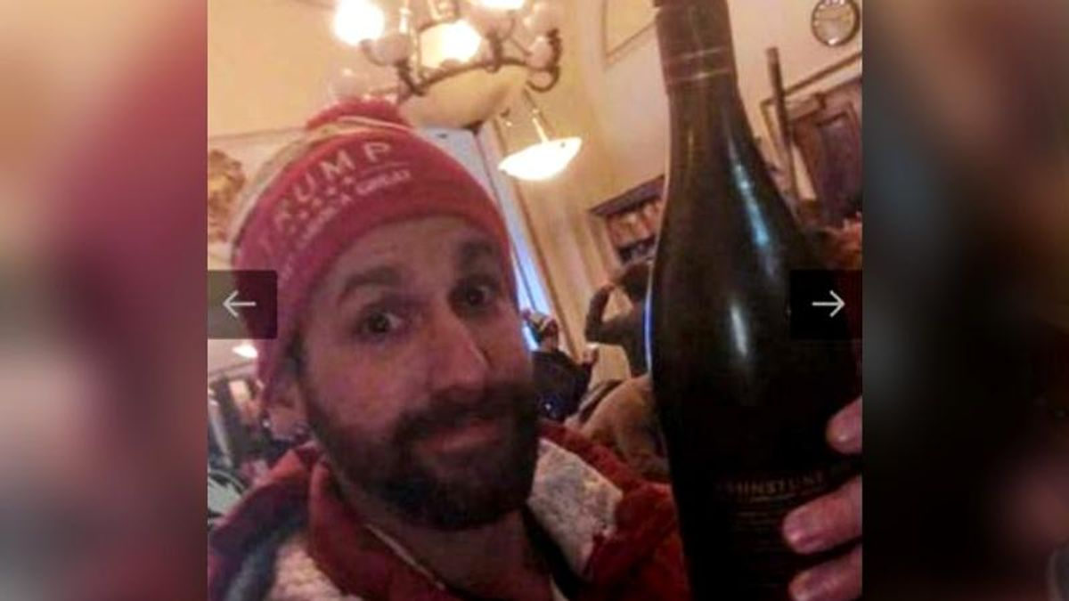 Wine-stealing Capitol rioter quickly embarrasses himself after announcing he is running for office