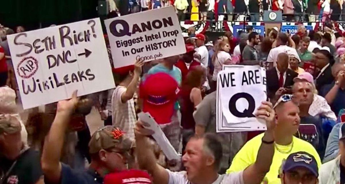 WATCH: Former QAnon believer warns conspiracy theorists will turn violent because they think they're battling Satan