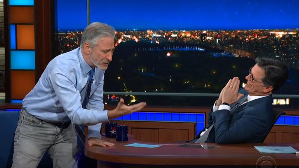 Jon Stewart leaves Stephen Colbert stunned as he unloads on China's Wuhan lab: COVID-19 was 'more than likely caused by science'