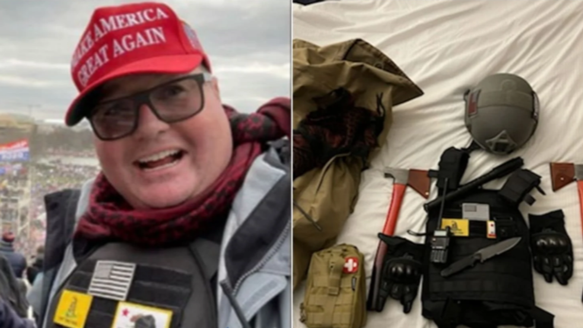 Trump supporter who led 'armed fighters' into the Capitol was just angry about having to wear a mask: lawyers