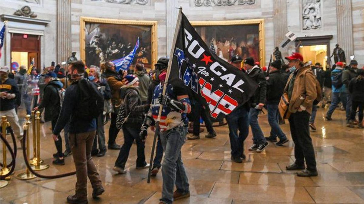 MAGA-rioting granny now says she's 'horrified' by violence at Capitol as she pleads for leniency
