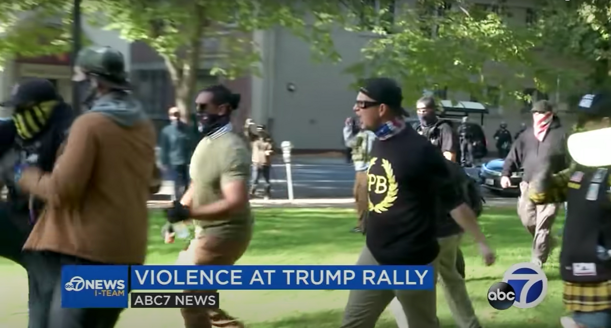 California Proud Boy linked to clashes with antifascists accused of spraying chemicals at police on Jan. 6