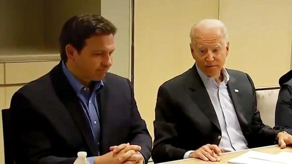 Trump supporters seethe after 'cuck' Ron DeSantis thanks Joe Biden for help on Surfside condo disaster