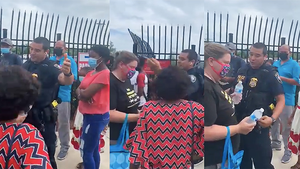 Video shows Homeland Security threatened to arrest people passing out water to people in 100-degree heat