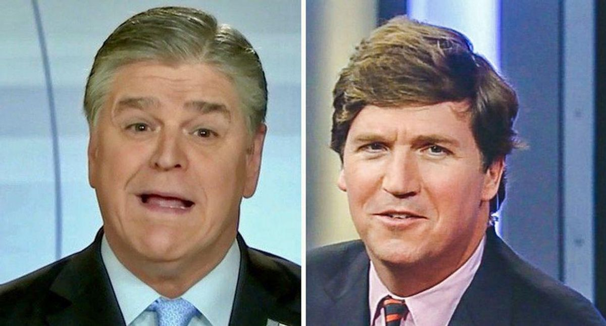 Sean Hannity melts down on-air over report Tucker Carlson keeps dishing to reporters about him