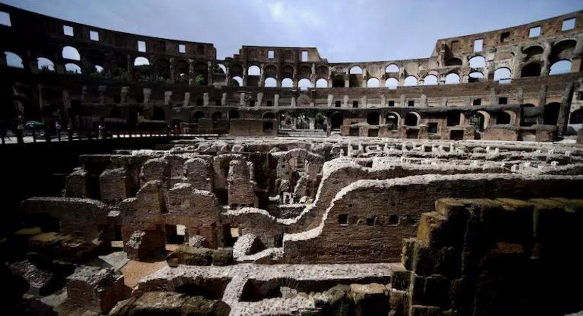 Colosseum's underground labyrinth restored to eerie splendour