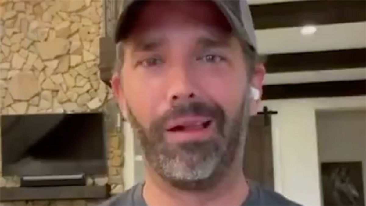 Shock after Trump Jr releases video where he appears 'high as a kite': 'Hold an intervention now'