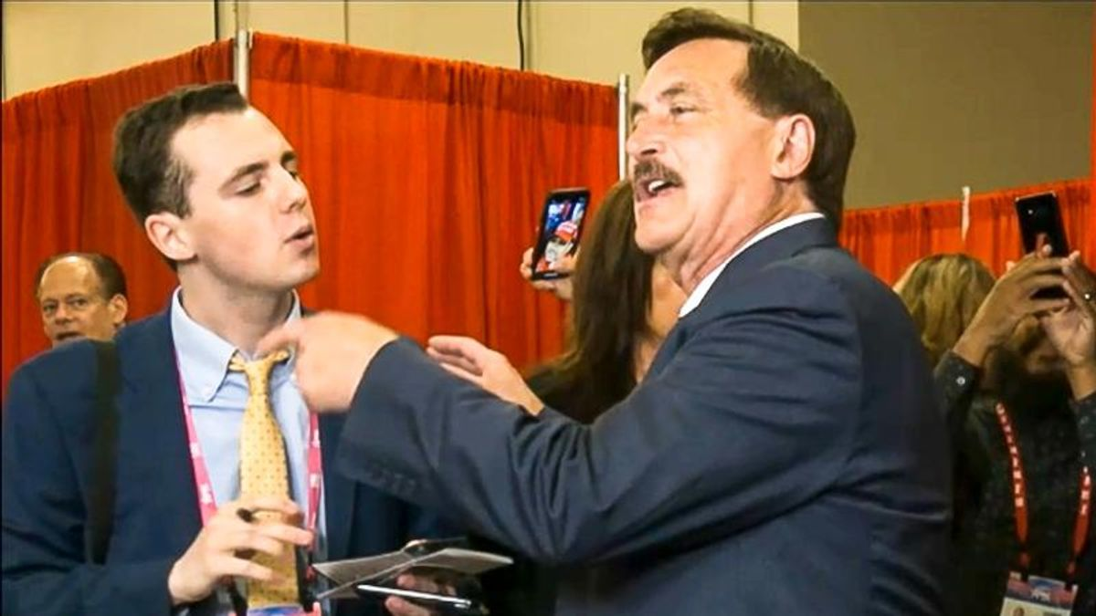 Mike Lindell yells at reporter for 'destroying the country' during CPAC confrontation
