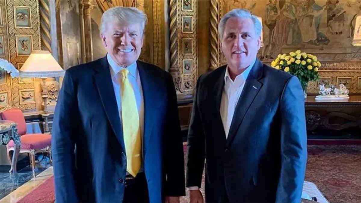 'It's just shameful': Kevin McCarthy trashed on CNN for resurrecting political career of 'dictator-in-exile' Trump