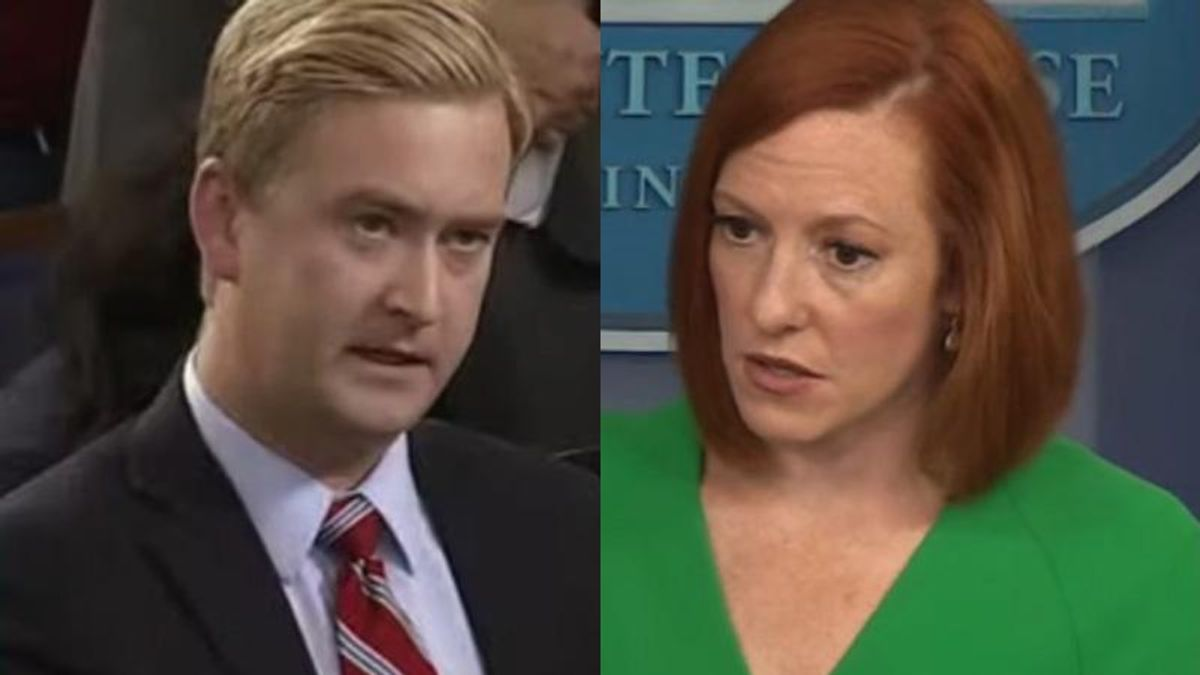 Psaki smacks down Fox News reporter Peter Doocy for 'loaded and inaccurate' claim of White House 'spying' on Facebook pages