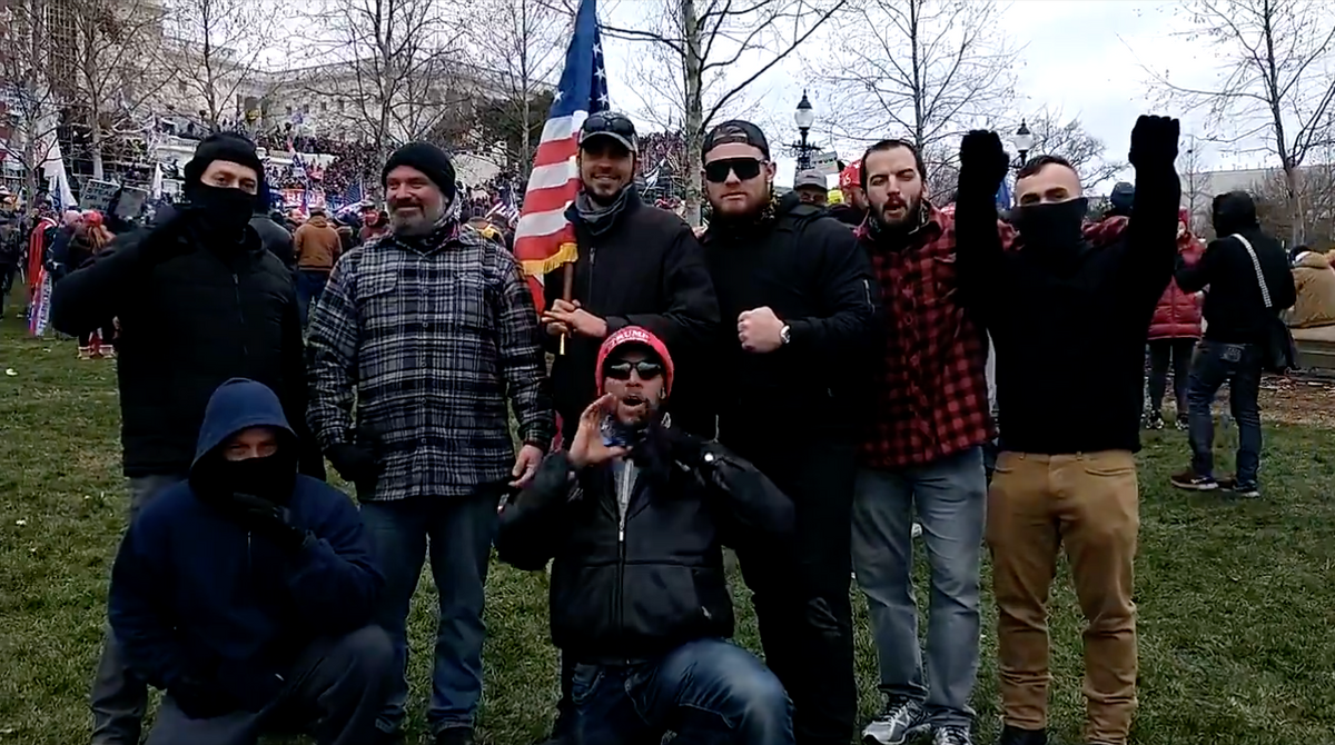 Florida cop indicted alongside Proud Boys -- after he was spotted celebrating with them at Capitol riots