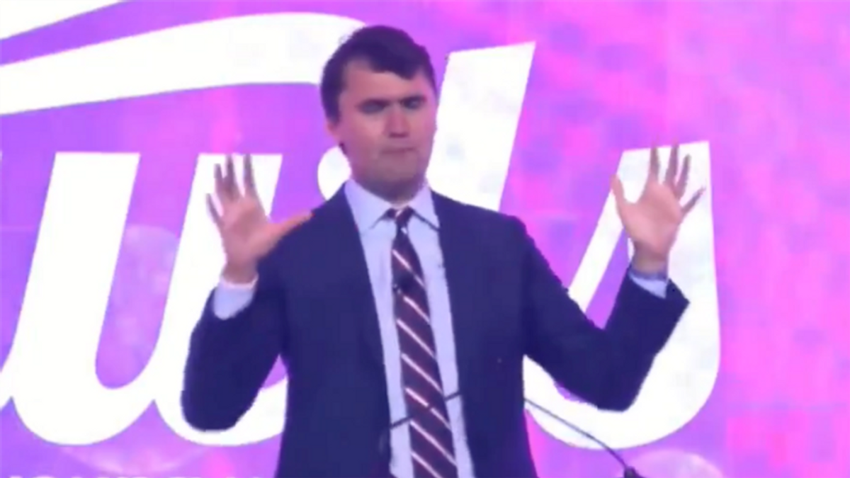Turning Point USA's right-wing youth gathering derailed by 'conservative' adult film star