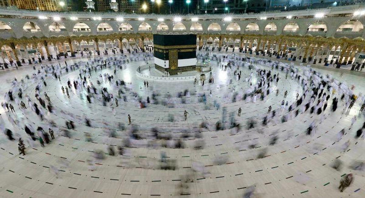 Pilgrims ascend Mount Arafat in high point of pandemic-era hajj
