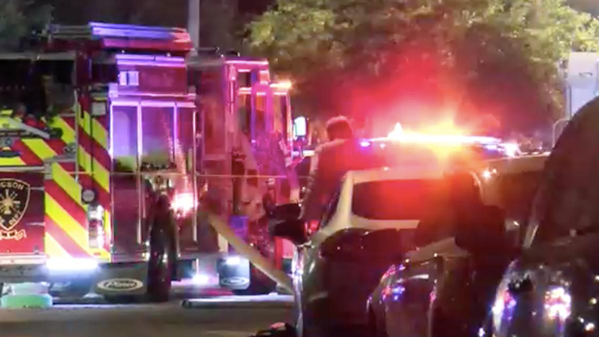 'Horrific' scene as gunman opens fire on emergency crews and neighbors battling house fire