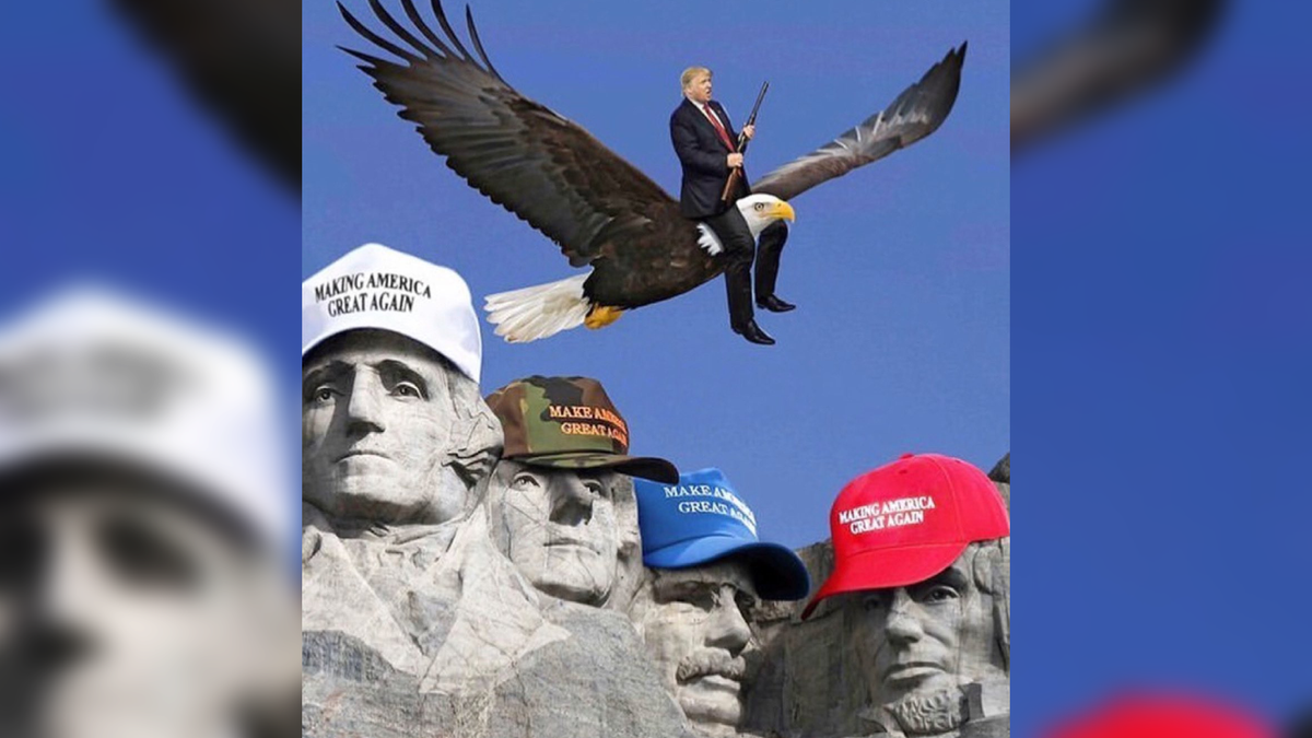 'What is wrong with you?' Donald Trump Jr. accused of 'desecrating' July 4 with picture of dad riding eagle