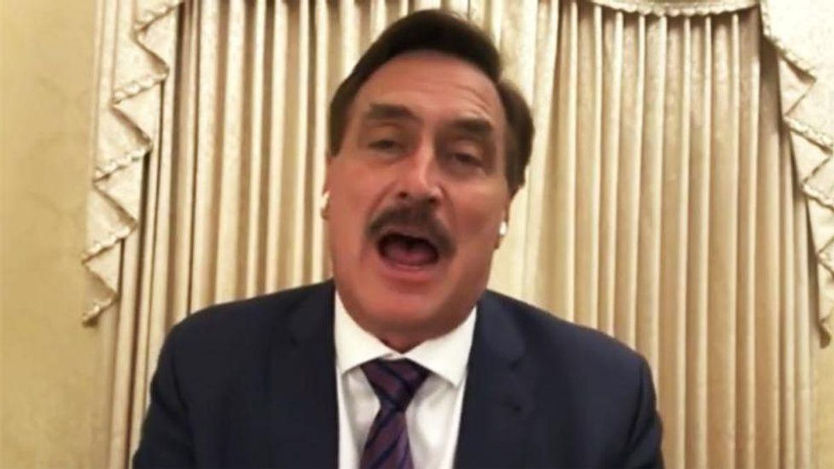 Mike Lindell: Biden wants to inject 'Mark of the Beast' vaccine into as many Americans as he can before Trump's reinstatement
