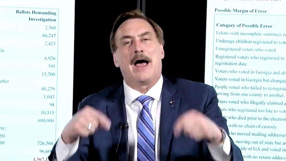 Mike Lindell made an insane election conspiracy diagram that has to be seen to be believed