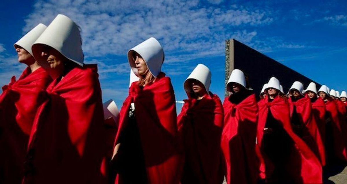 'Force you to put things in your body': Right winger rants colleges requiring vaccines are like 'The Handmaid's Tale'
