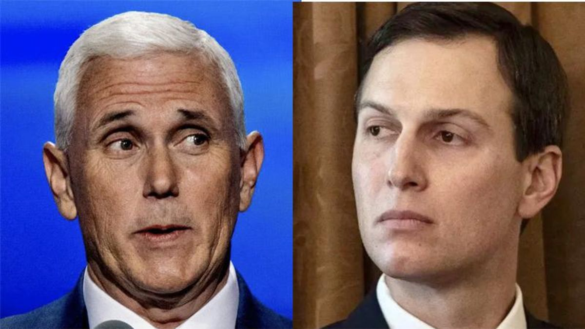 'Nauseating' Mike Pence sucked up to Jared Kushner during COVID-19 Task Force meetings: book