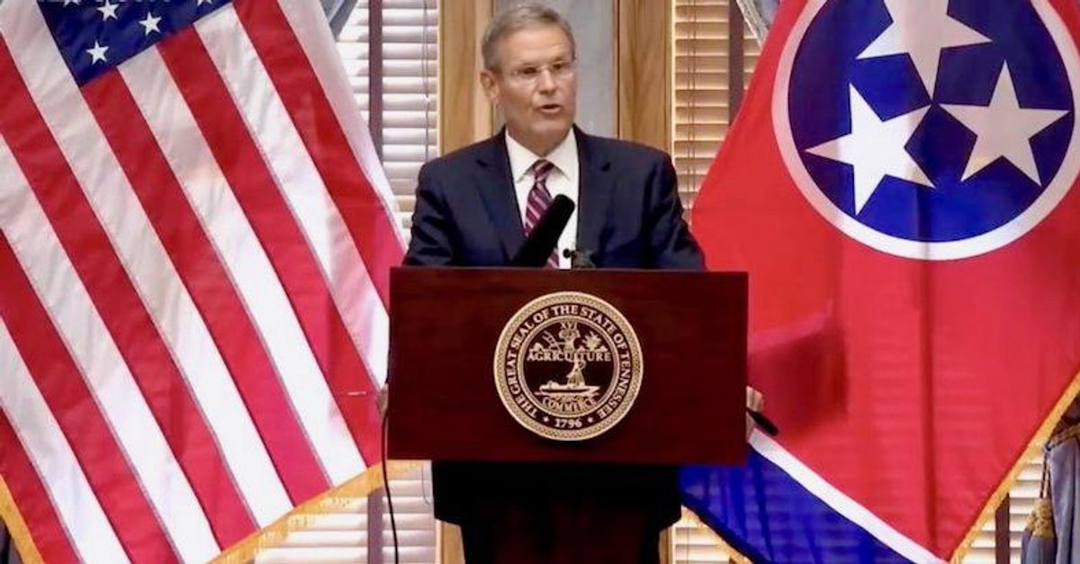 Governor comes out of hiding to suggest Tennesseans think about getting vaccinated to 'manage' the 'health situation'