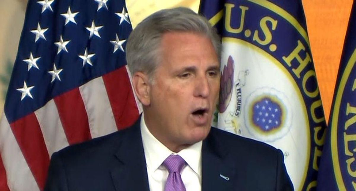 'You failed, Kevin': GOPer McCarthy mocked for last-ditch attempt to undermine Capitol riot committee after Kinzinger addition