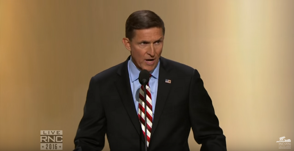Americans demand arrest of Michael Flynn after he 'jokes' about assassination in Washington, DC with his new gun