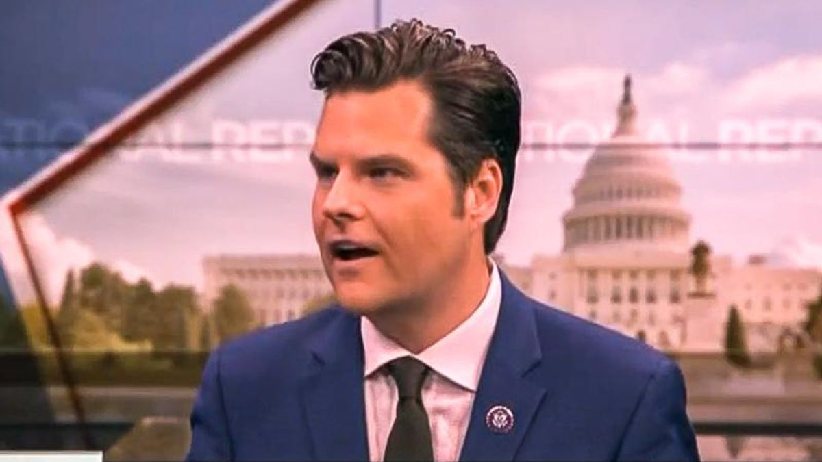 Matt Gaetz is terrified that the 'entire purpose' of Jan. 6 committee is to charge GOP lawmakers