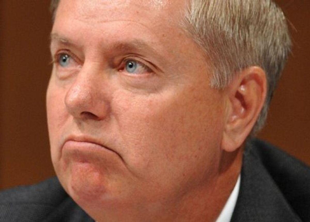 'Spineless wonder' Lindsey Graham blasted for crediting Trump for vaccines as COVID-19 spikes in conservative counties