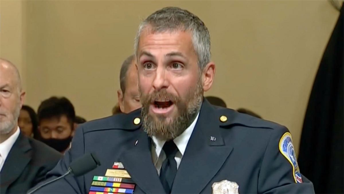 'Disgraceful': Officer Michael Fanone fights back tears as he calls out Republicans for 'betraying their oath of office'