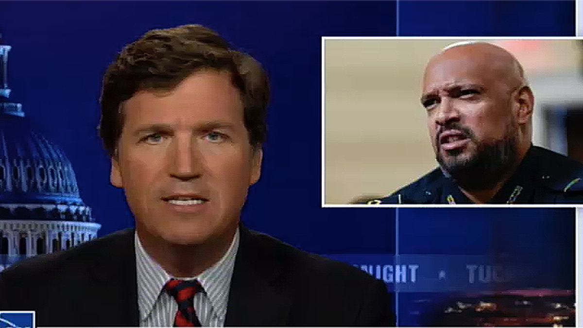 Tucker mocks DC cop's claim of suffering from PTSD — even though he was beaten and knocked unconscious