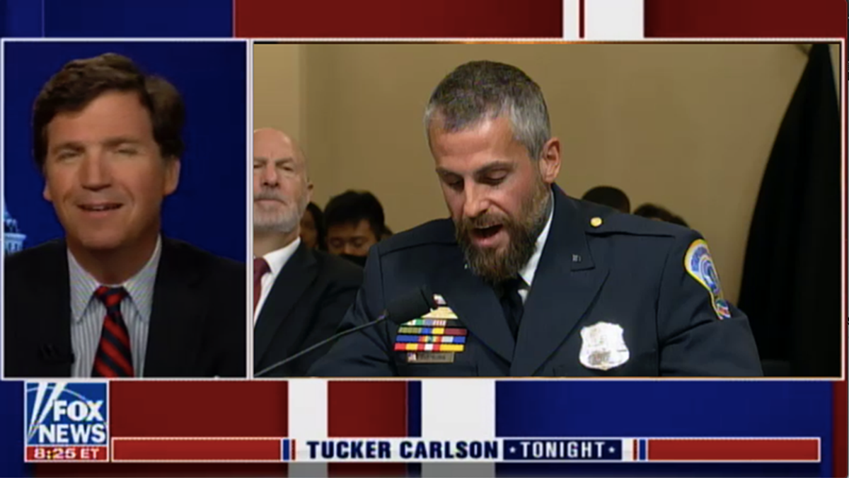'Worst human known to man': Tucker Carlson destroyed after laughing at DC cop with PTSD